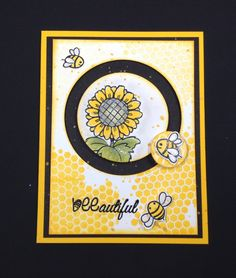 """Fun Stampers Journey spinner card, stamp set, """"Be You"""" plus honeycomb ATS…"""