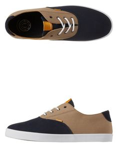 The new Lockhart Skate shoe from Element in Khaki / Navy - skate or casual or both!