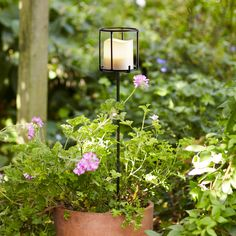 Navarre Battery Candle Stake Lantern | Lights4fun.co.uk