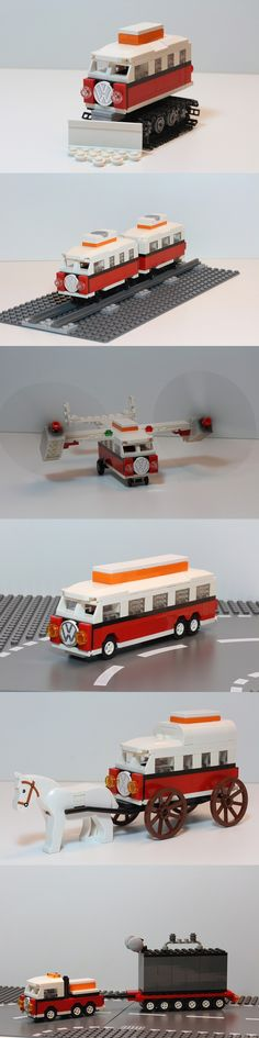 Pisten Bully Camper, Railcar Camper, V22 Osprey Camper, Stretched Limo Camper, Covered Wagon Camper, Heavy Transport Camper #Eurobricks #PimpMyCamper