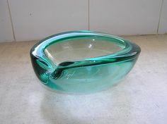 Murano Glass Green Bowl
