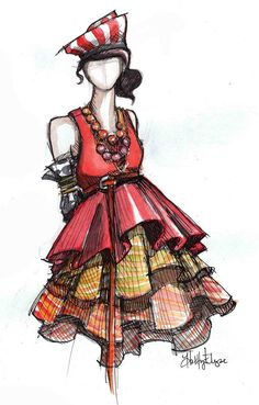 fashion sketches - 50 Amazing Fashion Sketches  <3 !