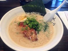 First time trying pork broth.. Better than shoyu.. Very rich! @ kanpai in Glendale ca