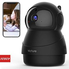 Victure FHD WiFi IP Camera Indoor Wireless Security Camera Motion Detection Night Vision Home Surveillance Monitor Audio Baby/Pet/Elder Camera Surveillance Wifi, Security Surveillance, Security Alarm, Surveillance System, Best Home Security, Wireless Home Security Systems, Wireless Security Cameras, Security Cameras For Home, Pet Camera
