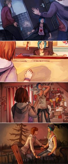 LiS Redraw by thiefofstarz on DeviantArt, life is strange, max caulfield, chloe price, pricefield