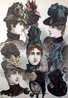 Illustration of bonnets and hats - 1887