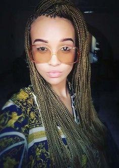 white girls with micro braids