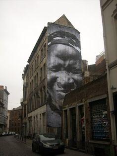 Women are heroes: #JR  visit dopewriter.com to buy personal graffiti via paypal