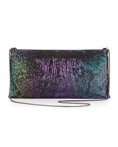 @BCBG MAX AZRIA @Last Call Metallic Iridescent Snakeskin Clutch With Chain Strap. http://zodiacfashion.blogspot.com/