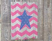 40% off Sale, Barn wood sign American flag inspired Red chevron Blue Star, Red White Blue, 4th of July wood sign, primitive USA decor pallet