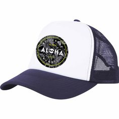 Sealed with aloha. Support your state pride with the custom Aloha graphic, printed onto the front of a classic foam front trucker hat with a breathable ...