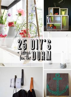 25 Dorm Decor DIY Ideas - there are some really great decor ideas that I think would be great for an apartment or any small space.