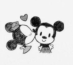 love disney minnie and mickey mouse Mickey Minnie Mouse, Disney Mickey, Baby Mickey, Walt Disney, Mickey And Minnie Love, Disney And Dreamworks, Disney Art, Disney Kiss, Disney Images