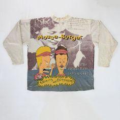 d0e0cebc4 Vintage 1994 Beavis and Butthead MTV Mouse-Burger All Over Print Crewneck  Sweatshirt for sale