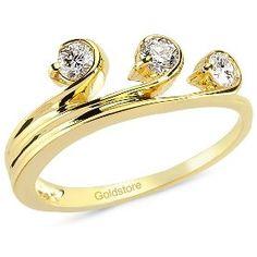 Goldstore 14 ayar altın 0.32 ct pırlanta tria yüzük DRT11541