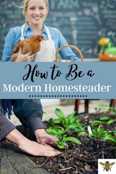 """Would you like to be more self-suffic?ient and sustainable? You might be ready to start homesteading! So, just how do you become a modern homesteader? I've got you covered with """"How to Be a Modern Homesteader""""! #beginnerhomesteader #homesteadingforbeginners #howtostarthomesteading Self Sufficient Homestead, Backyard Layout, Homestead Farm, Modern Homesteading, Homesteads, Hobby Farms, Grow Your Own Food, Chickens Backyard, Sustainable Living"""