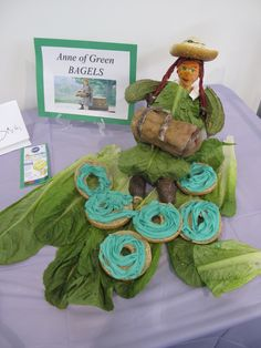 Anne of Green Bagels, at Fish Creek Library's Edible Book Festival