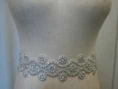 Wedding Belt, Bridal Belt, Sash Belt, Crystal Rhinestone - Style B1000