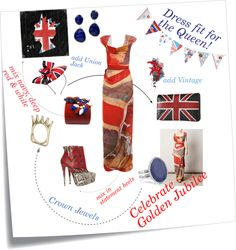 Perfect Golden Jubilee Outfit, created by polly-wore on Polyvore