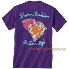 Clemson Tradition Southern Style T Shirt at www.underthecarolinamoon.com