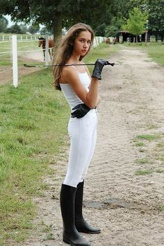 Princess Fatale white breeches and rubber riding boots Equestrian Girls, Equestrian Outfits, Equestrian Style, Equestrian Fashion, Horse Riding Clothes, Riding Pants, Riding Crop, Riding Breeches, Female Supremacy