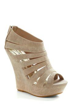nude suede heels, i love mine!