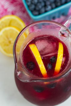 Blueberry Hibiscus Lemonade from The Girl In The Little Red Kitchen