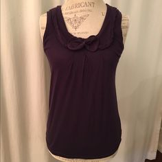 Anthropologie size XS little yellow button Eggplant color. Size XS Anthropologie Tops Tank Tops