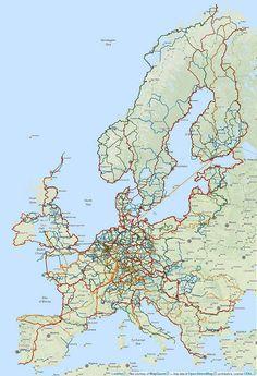 Karte mit den Radwegen und Radtouren auf www.biroto.eu