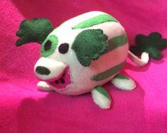 Steven Universe inspired Watermelon Dog plush