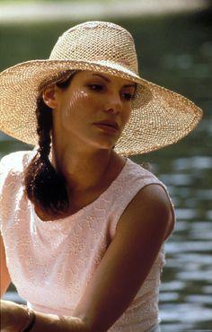 Sandra Bullock | Lovely straw hat.