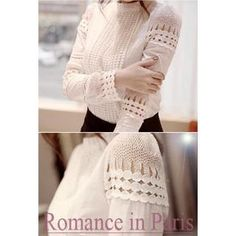 Buy 'LOVEMARSH – Crochet Trim Blouse' with Free International Shipping at YesStyle.com. Browse and shop for thousands of Asian fashion items from South Korea and more!