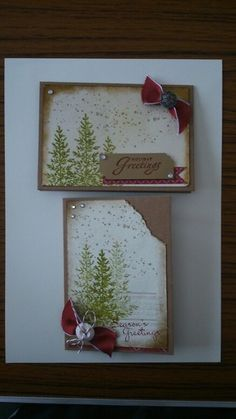 Christmas cards - Lovely as a tree, and grunge
