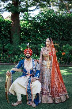 Sikh Bride, Sikh Wedding, Indian Wedding Outfits, Wedding Couples, Punjabi Wedding, Wedding Ideas, Wedding Goals, Bridal Outfits, Farm Wedding