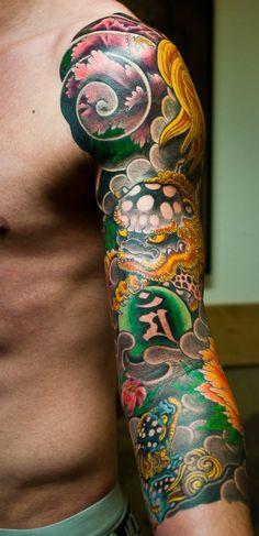 senju horimatsu, irezumi, japanese tattoo, umeå, japansk tatuering, kara-shishi+botan