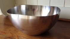 LUNDTOFTE 1960s Danish Vintage Retro STAINLESS STEEL FRUIT BOWL