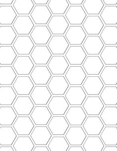 hexagon pattern template - standard mel stampz | Flickr - Photo Sharing!