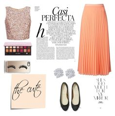 """""""cute"""" by kokyledesma on Polyvore featuring Miss Selfridge, Whiteley, Rika, Anniel, Effy Jewelry, Casetify and Post-It"""
