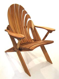 Wave Folding Cedar Adirondack with armrests. Hang Ten......... Fingers with the newest Wave