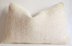 Sukan / 1 Piece Hand Woven Vintage Hemp Kilim Pillow Cover, Bolster Pillow Cover Lumbar Pillow Cover