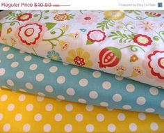 This listing is for a 1/2 yard each of fabric from Riley Blakes Simply Sweet collection, cut straight from the bolt. 1/2 yard -Simply Sweet