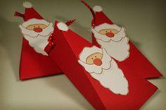 Santa gift box diy. Use google translate... free templates too!