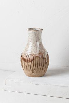 stoneware glazed beige planter pot decor France, Old pottery vintage deco vintage kinfolk nature
