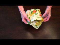 Wrapigami: Beeswax Wrap Sandwich Pocket Tutorial - YouTube