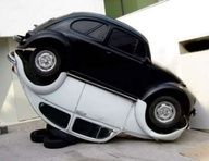 Yin Yang VW  #Street_art #Guerrilla_Marketing
