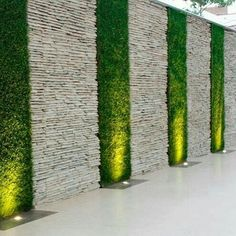 Go crazy with this Boundary wall decor ! naturalstone wallcladding by stoneideas homedecor udaipur tiles walltiles decorations nature indianstone www stoneideas in is part of Wall cladding tiles - Vertical Garden Design, Fence Design, Vertical Gardens, Small Courtyard Gardens, Small Garden Design, Rustic Gardens, Yard Design, Backyard Patio Designs, Backyard Landscaping