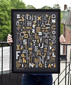 The Letters poster by Skinny ships & 55 Hi's