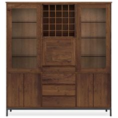Room & Board - Linear 74w 16d 80h Storage Cabinet with Steel Base