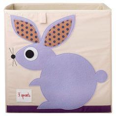 3 Sprouts Fabric Cube Storage Bin - Rabbit : Target