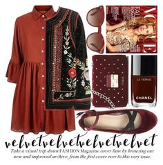 CRUSHING ON VELVET #3 by noraaaaaaaaa on Polyvore featuring polyvore fashion style Mela Loves London Velvet Oliver Peoples clothing velvet